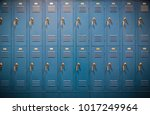 row of high school lockers | Shutterstock . vector #1017249964