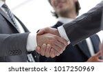 closeup.handshake of business... | Shutterstock . vector #1017250969