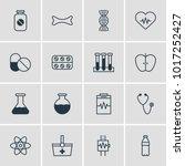 illustration of 16 medical... | Shutterstock . vector #1017252427