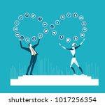 rpa robotic progress... | Shutterstock .eps vector #1017256354