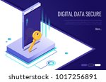 concept of security network.... | Shutterstock .eps vector #1017256891
