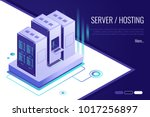 concept of server hosting.data... | Shutterstock .eps vector #1017256897