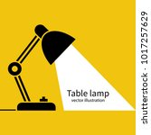 table office lamp. desktop... | Shutterstock .eps vector #1017257629