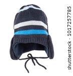 children's winter hat isolated...   Shutterstock . vector #1017257785