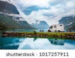 family vacation travel rv ... | Shutterstock . vector #1017257911