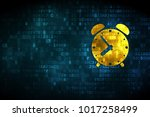 time concept  pixelated alarm... | Shutterstock . vector #1017258499