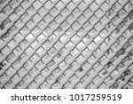 snow stuck on chainlink fence... | Shutterstock . vector #1017259519