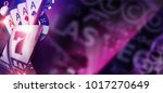 purple casino banner concept....   Shutterstock . vector #1017270649