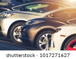 Small photo of Pre Owned Vehicles For Sale in Stock. Used Cars on Dealership Lot. Automotive Industry.