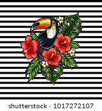 toucan embroidery patches with... | Shutterstock .eps vector #1017272107