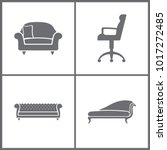 vector illustration set office... | Shutterstock .eps vector #1017272485