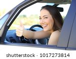 portrait of a satisfied driver... | Shutterstock . vector #1017273814