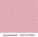 seamless lace pattern with... | Shutterstock .eps vector #1017274561