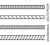 rope pattern set  vector... | Shutterstock .eps vector #1017279229