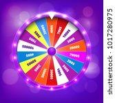 fortune wheel realistic vector... | Shutterstock .eps vector #1017280975