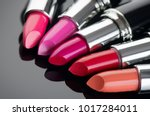 lipstick. fashion colorful... | Shutterstock . vector #1017284011
