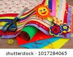 crafts and creativity of felt.... | Shutterstock . vector #1017284065
