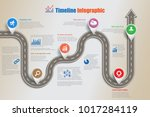 business road map timeline... | Shutterstock .eps vector #1017284119