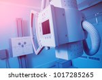 x ray room in a hospital.... | Shutterstock . vector #1017285265