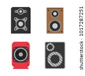 set icon acoustic music sound...   Shutterstock .eps vector #1017287251