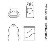 set icon line glass bottle and... | Shutterstock .eps vector #1017291667