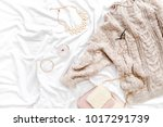 woman clothes and accessories... | Shutterstock . vector #1017291739