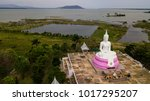 aerial photos  of  white buddha ... | Shutterstock . vector #1017295207