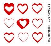 hand drawn vector valentine... | Shutterstock .eps vector #1017295261