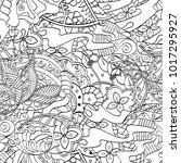 tracery seamless pattern.... | Shutterstock .eps vector #1017295927