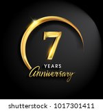 7 years anniversary celebration.... | Shutterstock .eps vector #1017301411