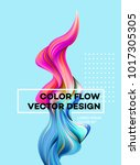 modern colorful flow poster.... | Shutterstock .eps vector #1017305305