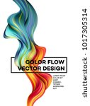 modern colorful flow poster.... | Shutterstock .eps vector #1017305314