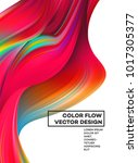 modern colorful flow poster.... | Shutterstock .eps vector #1017305377