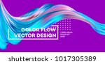 modern colorful flow poster.... | Shutterstock .eps vector #1017305389