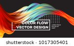 modern colorful flow poster.... | Shutterstock .eps vector #1017305401