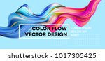 Modern colorful flow poster. Wave Liquid shape in blue color background. Art design for your design project. Vector illustration EPS10 | Shutterstock vector #1017305425