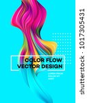 modern colorful flow poster.... | Shutterstock .eps vector #1017305431
