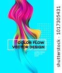 modern colorful flow poster....   Shutterstock .eps vector #1017305431