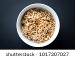 whole wheat sprouts. fresh... | Shutterstock . vector #1017307027