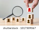 human resource and talent... | Shutterstock . vector #1017309067