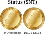 set of physical golden coin...   Shutterstock .eps vector #1017312115
