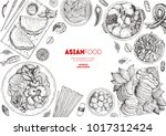 asian cuisine sketch collection.... | Shutterstock .eps vector #1017312424