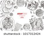 japanese food menu design... | Shutterstock .eps vector #1017312424