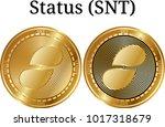 set of physical golden coin...   Shutterstock .eps vector #1017318679