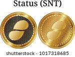 set of physical golden coin...   Shutterstock .eps vector #1017318685