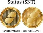set of physical golden coin...   Shutterstock .eps vector #1017318691