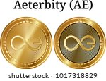 set of physical golden coin... | Shutterstock .eps vector #1017318829