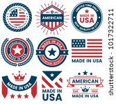 american vector label for... | Shutterstock .eps vector #1017322711