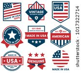 american vector label for... | Shutterstock .eps vector #1017322714
