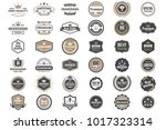 vintage retro vector logo for... | Shutterstock .eps vector #1017323314